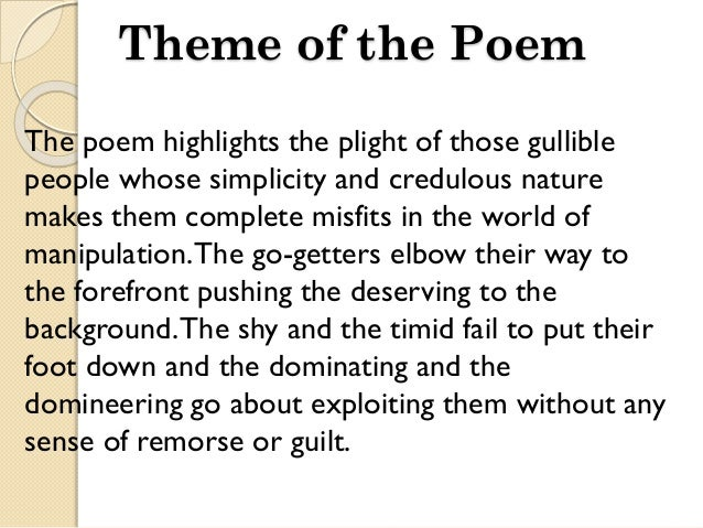 an analysis of the topic of the poet out of pioneer Example poetry analysis,  topic: a car crash 7 summary: the poem starts with a description of an  the idea that a light is spurted out like blood is abstract.