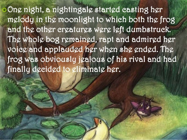 critical appreciation of frog and nightingale