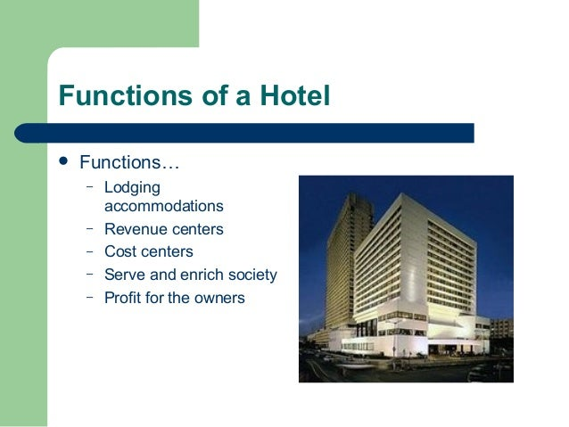 The front office function of a hotel tourism essay