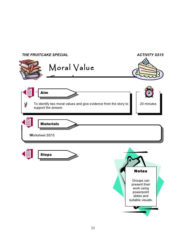 fruitcake special moral values essay