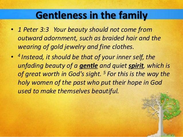 The Fruit of the Spirit - Gentleness