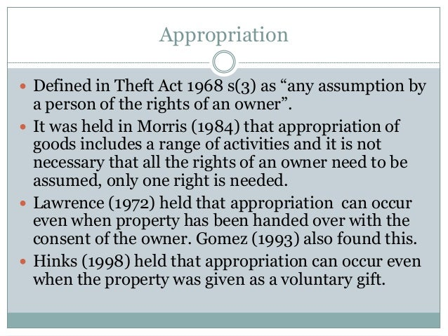 right of appropriation definition