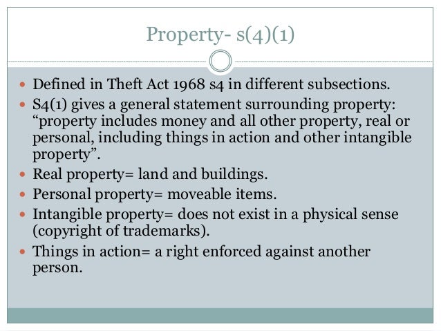 Other Personal Property Or Other Intangible Property