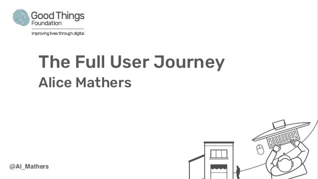 The Full User Journey Alice Mathers @Al_Mathers