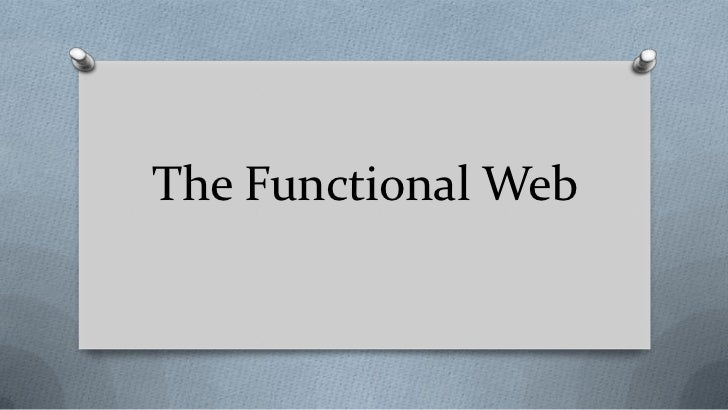 The Functional Web