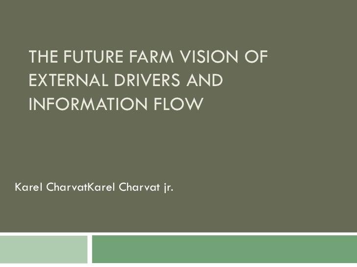 THE FUTURE FARM VISION OF EXTERNAL DRIVERS AND INFORMATION FLOW Karel CharvatKarel Charvat jr .