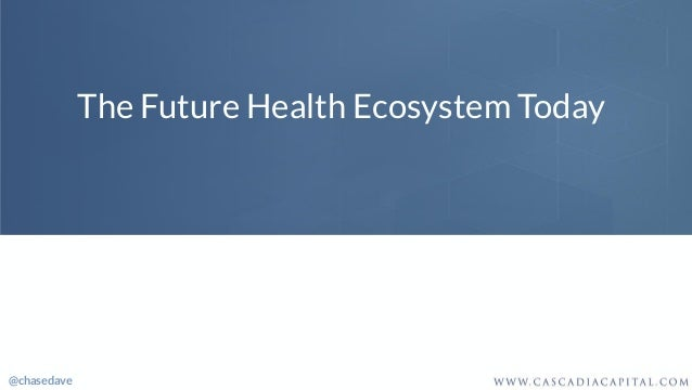 The Future Health Ecosystem Today @chasedave