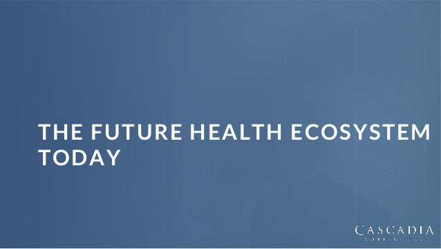 2 | @chasedave THE FUTURE HEALTH ECOSYSTEM TODAY