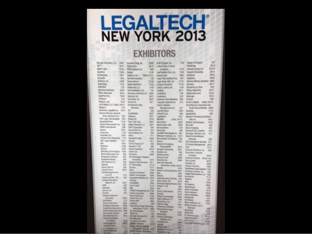 15 2009 Law or Legal Related Companies as highlighted by*Josh Kubicki @ ReInventLaw NYC 2014 * 411 2014