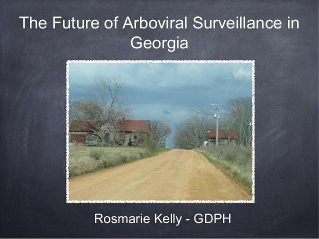 The Future of Arboviral Surveillance in               Georgia          Rosmarie Kelly - GDPH
