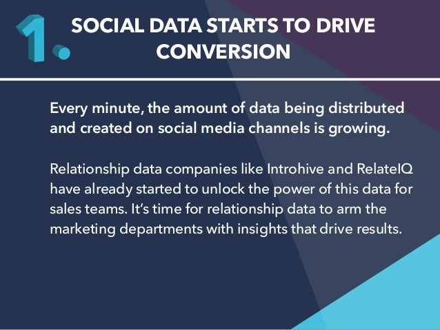 SOCIAL DATA STARTS TO DRIVE  CONVERSION  Every minute, the amount of data being distributed  and created on social media c...