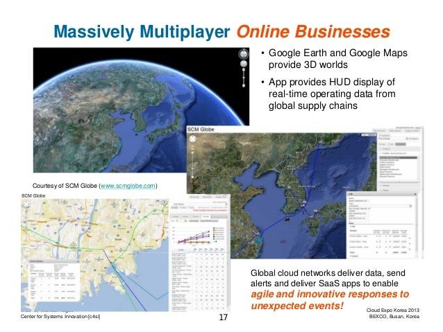 Massively Multiplayer Online Businesses • Google Earth and Google Maps provide 3D worlds • App provides HUD display of rea...