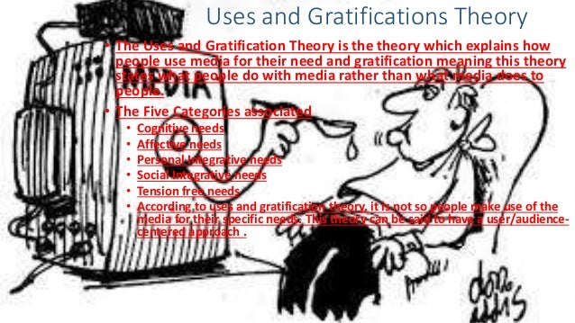 Uses and Gratifications Theory • The Uses and Gratification Theory is the theory which explains how people use media for t...