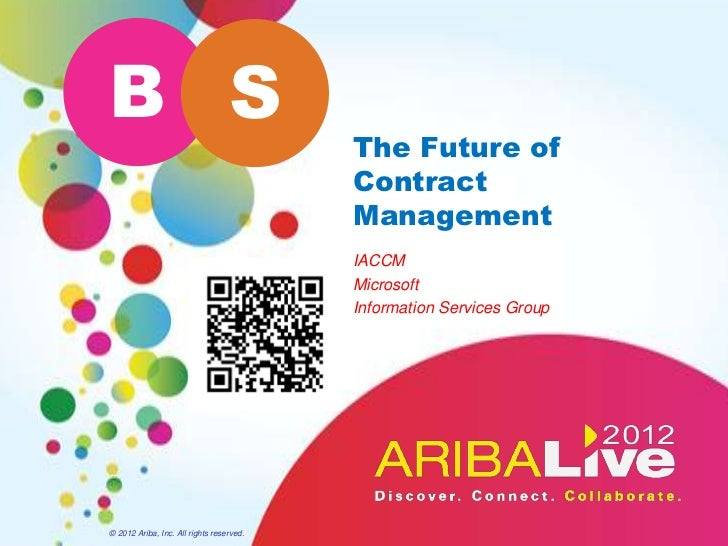 B S                                          The Future of                                          Contract              ...