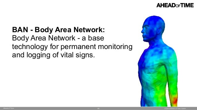 © 2014 Ahead of Time GmbHAhead of Time 45 BAN - Body Area Network: Body Area Network - a base technology for permanent mon...