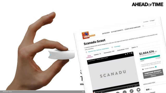 © 2014 Ahead of Time GmbHAhead of Time 70 Scanadu Scout 