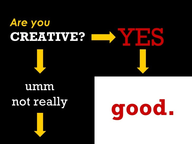 good. Are you CREATIVE? YES umm not really