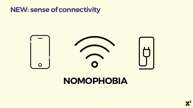 NEW: sense of connectivity NOMOPHOBIA