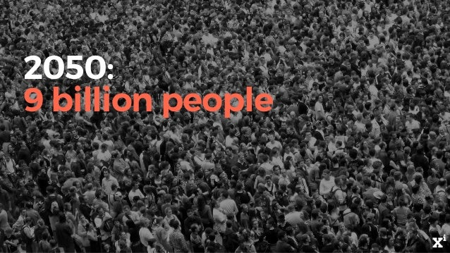 2050: 9 billion people