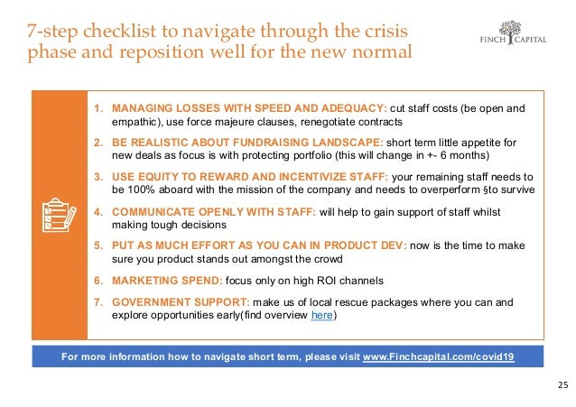 7-step checklist to navigate through the crisis phase and reposition well for the new normal 25 1. MANAGING LOSSES WITH SP...