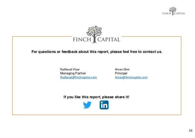 26 For questions or feedback about this report, please feel free to contact us. If you like this report, please share it! ...