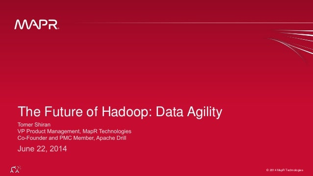 © 2014 MapR Technologies 1© 2014 MapR Technologies The Future of Hadoop: Data Agility