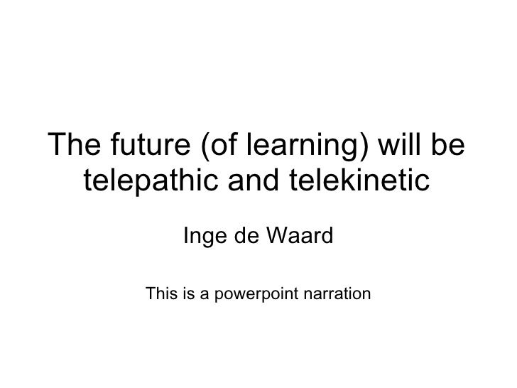 The future of human telepathy final