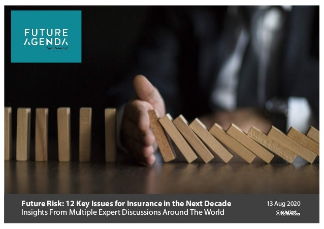 Future Risk: 12 Key Issues for Insurance in the Next Decade Insights From Multiple Expert Discussions Around The World 13 ...