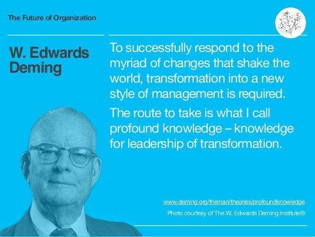 The Future of Organization To successfully respond to the myriad of changes that shake the world, transformation into a ne...