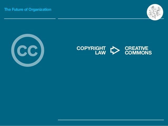 The Future of Organization CREATIVE COMMONS COPYRIGHT LAWcc