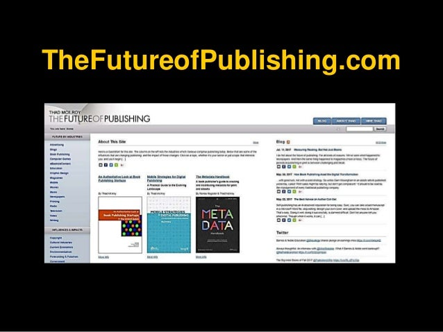 The Future of Publishing - The 2017 Edition Slide 3