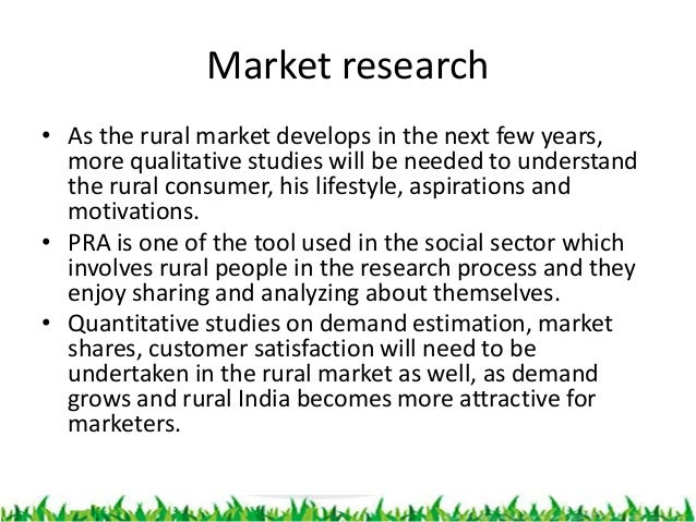rural marketing in india research paper