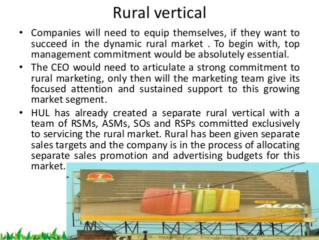 future of rural marketing Future of rural markets rural marketing-the future of indian industry indian agricultural industry has been growing at a tremendous pace in the last few decades the rural areas are consuming a large number of industrial and urban manufactured products.