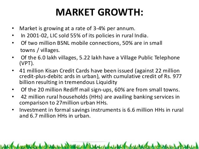 future of rural marketing The indian rural market has emerged an an important growth engine in the indian economy for the latest stats & market size of the indian rural market click her.
