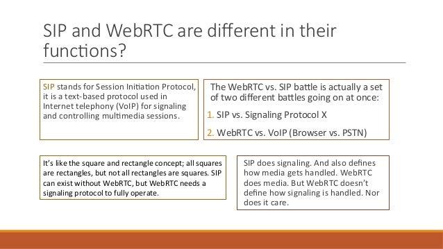 The Future of SIP in WebRTC