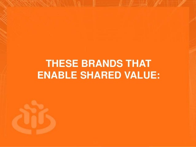 COLLABORATIVE ECONOMY THESE BRANDS THAT ENABLE SHARED VALUE:
