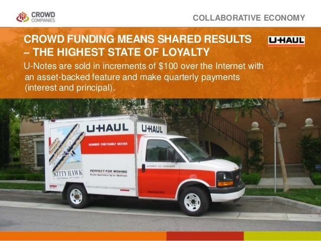 COLLABORATIVE ECONOMY CROWD FUNDING MEANS SHARED RESULTS – THE HIGHEST STATE OF LOYALTY U-Notes are sold in increments of ...