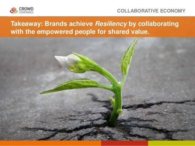 COLLABORATIVE ECONOMY Takeaway: Brands achieve Resiliency by collaborating with the empowered people for shared value.