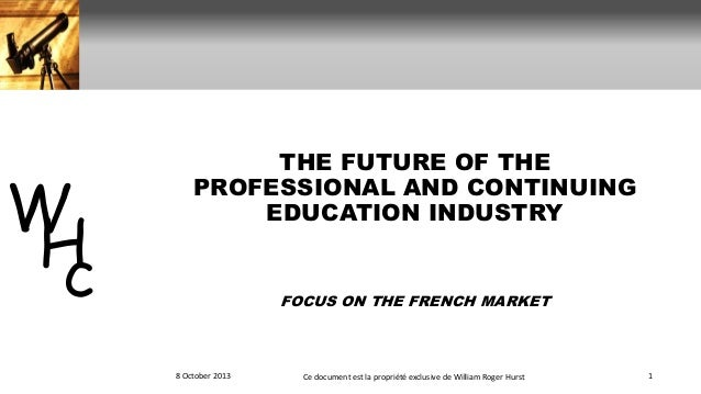 The future of the professional and continuing education industry