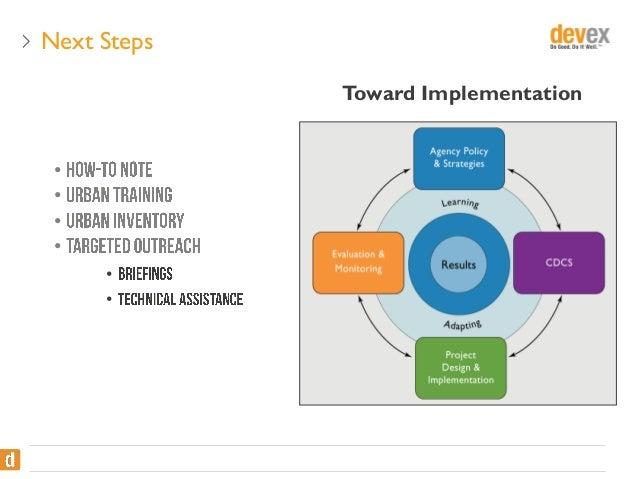 Next Steps Toward Implementation • • • • • •