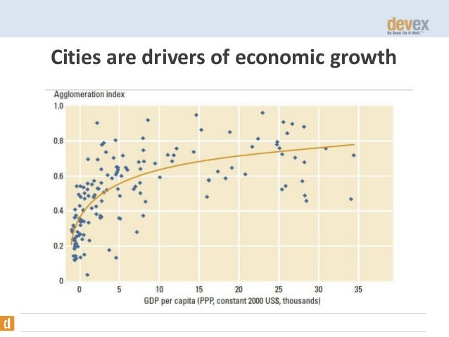 Cities are drivers of economic growth  WDR2009