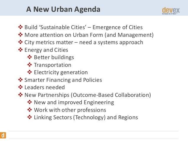 The Future of Urbanization and Development