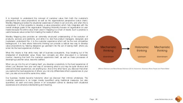 Page www.holonomics.co.uk26 It is important to understand the concept of customer value from both the customer's perspecti...