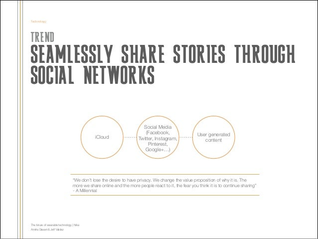 Technology  TREND  SEAMLESSLY SHARE STORIES THROUGH SOCIAL NETWORKS !  iCloud  Social Media (Facebook, Twitter, Instagram,...