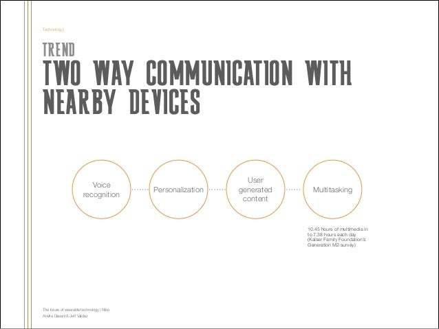 Technology  TREND  TWO WAY COMMUNICATION WITH NEARBY DEVICES !  Voice recognition  Personalization  User generated content...