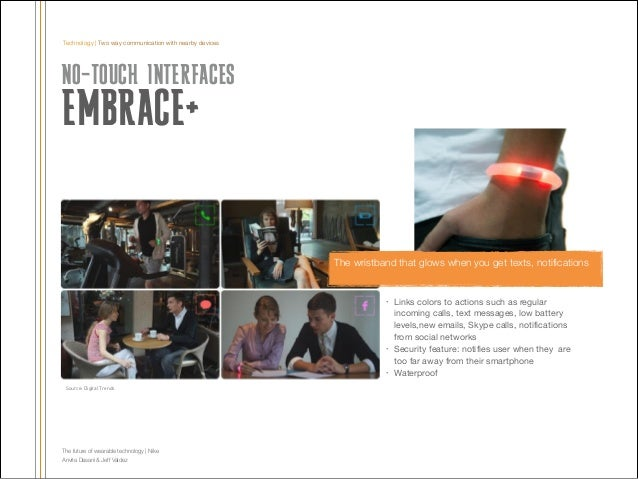Technology | Two way communication with nearby devices  NO-TOUCH INTERFACES  EMBRACE+  The wristband that glows when you g...