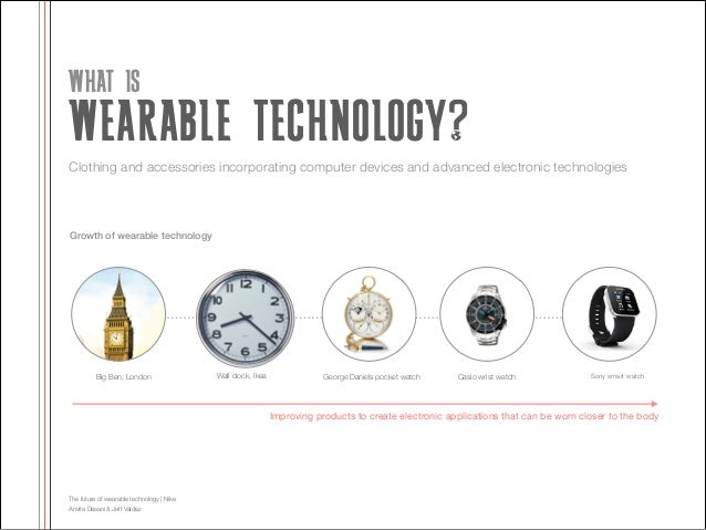 WHAT IS  WEARABLE TECHNOLOGY? Clothing and accessories incorporating computer devices and advanced electronic technologies...