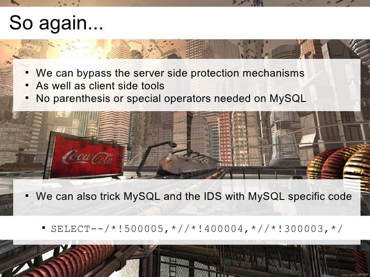 So again...         We can bypass the server side protection mechanisms        As well as client side tools        No p...