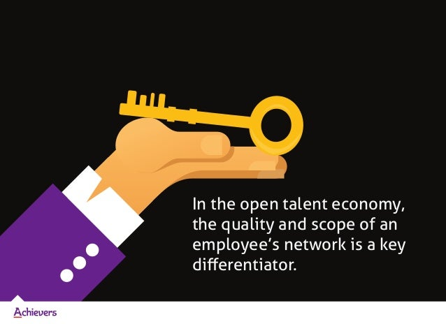 In the open talent economy, the quality and scope of an employee's network is a key differentiator.
