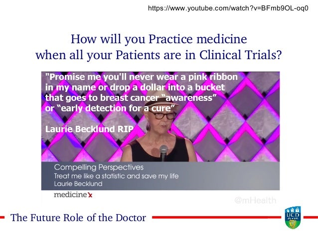 2929The Future Role of the Doctor How will you Practice medicine when all your Patients are in Clinical Trials? https://ww...